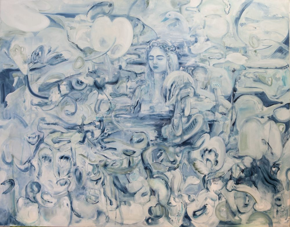 The Flowers Don't Dream of The Bees, Oil on Canvas, 200 x 160 cm