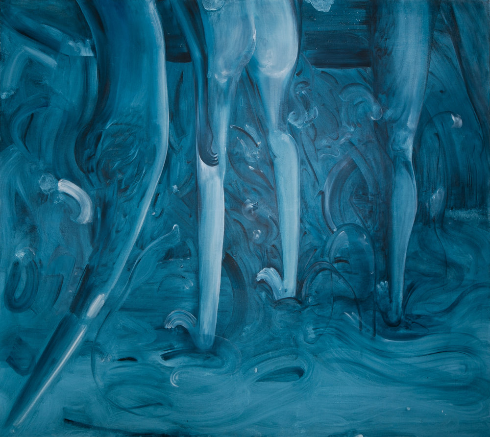 Sleepwalkers, Oil on Linen, 200 x 180 cm
