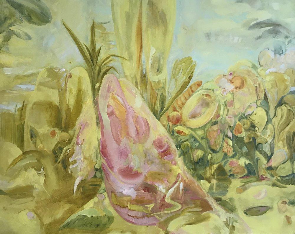 Heathen Spring, Oil on Linen, 180 x 150 cm