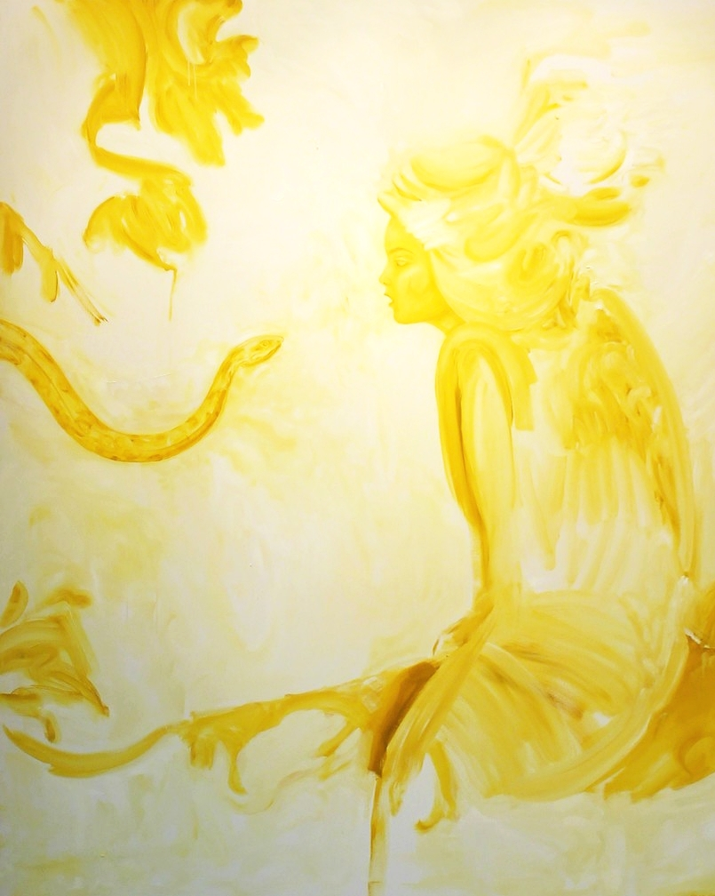 Golden Girl, Oil on Canvas, 200 x 180 cm
