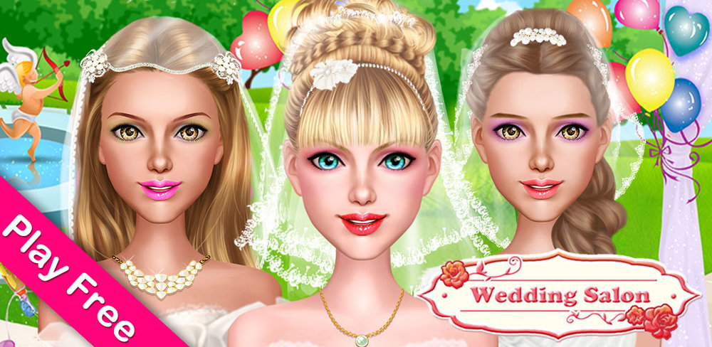 CLASSIC WEDDING SALON  Can't wait to hear the wedding bells ring? Do you always imagine how your dream wedding will be? Don't dream anymore! Start preparing yourself for the grandest wedding ever right here with our classic wedding makeover salon game!