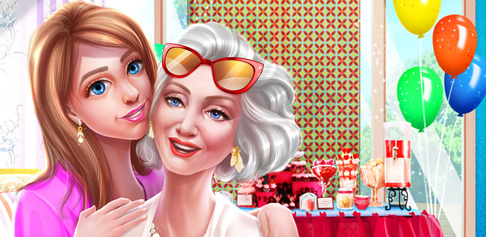 GRANNY MAKEOVER! FASHION SALON  Your adorable grandma is celebrating her 70th birthday tonight at a fun party and she needs your help getting ready!