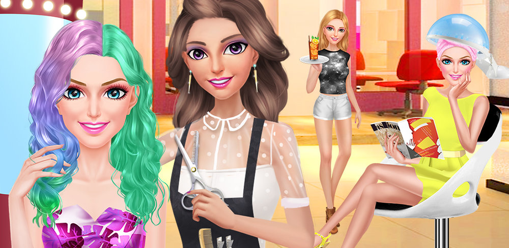 HAIR FASHION SUMMER GIRL SALON  Summer is fast approaching and this cute girl needs your help to pick the coolest hair style!