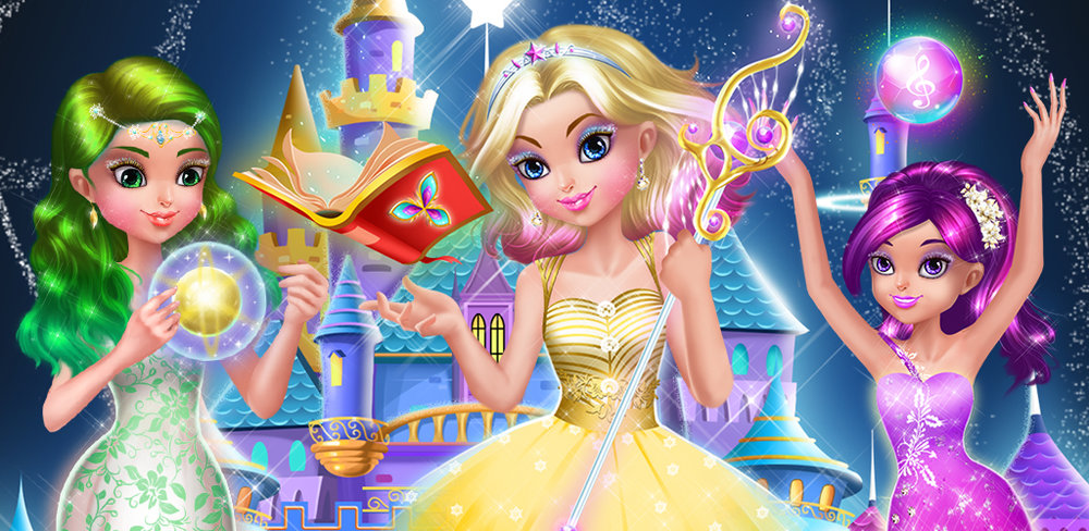 MAGIC PRINCESS - STAR GIRLS  You've been crowned a princess on a magic planet after a magical wish. Are you ready for a royal adventure?