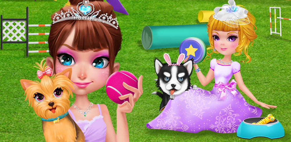 PRINCESS ROYAL PET SCHOOL  Nothing's better than getting a cute, fluffy puppy…even if you are a princess! The little princess just got her very own puppy. She's so excited, but she knows she has lots of work to do: puppies require lots of time and training, too!
