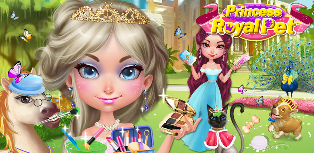 ROYAL PET SPA - PRINCESS PARTY  A beautiful princess needs a royal court, and what's better than a court of cute animals? Nothing, that's what!