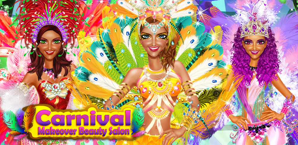 STAR GIRL CARNIVAL SPA SALON  - Help happy girls get ready for the big carnival show!  - Give them a complete makeover, including dresses, makeup, and hot fashion accessories.