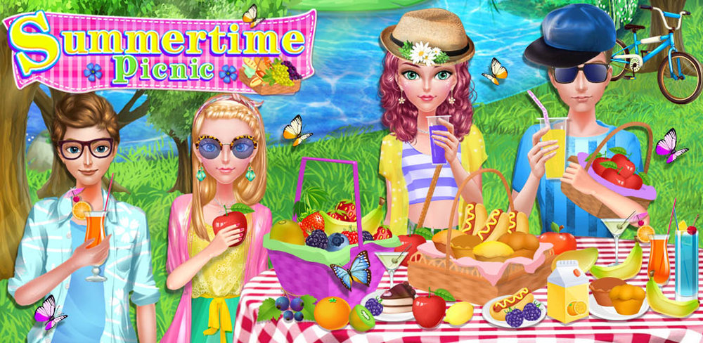 SUMMERTIME PICNIC DAY MAKEOVER  The sun is out and your girl friends are here! It's a beautiful day for a fun picnic adventure at the park! Do you love to enjoy the nature and the outdoors?
