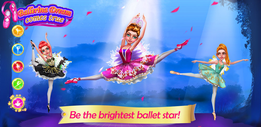 Ballerina & Ballet Dress Up  Diana has always wanted to be a ballet dancer since she was a little girl. It's her dream to become a prima ballerina one day! To make that dream come true, Diana's first step is to pass the admission audition of the best ballet school!