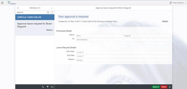 Handling/managing work items via Fiori MyInbox