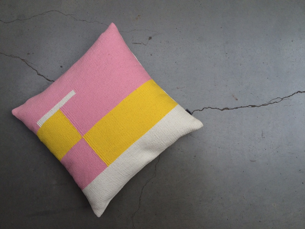 Jama-khan square cushion - 45 x 45 cms 100% handwoven cotton