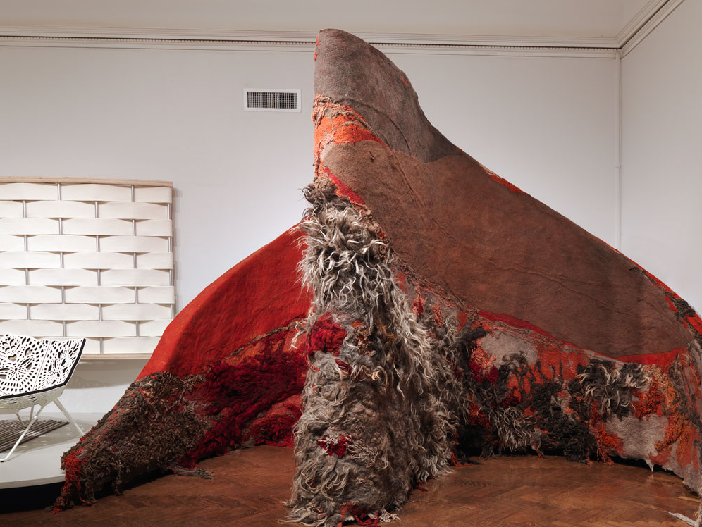 Claudy Jongstra, Inner Moods installation, felted and hand-dyed wools from Drenthe Heath sheep,   2009, Cooper-Hewitt