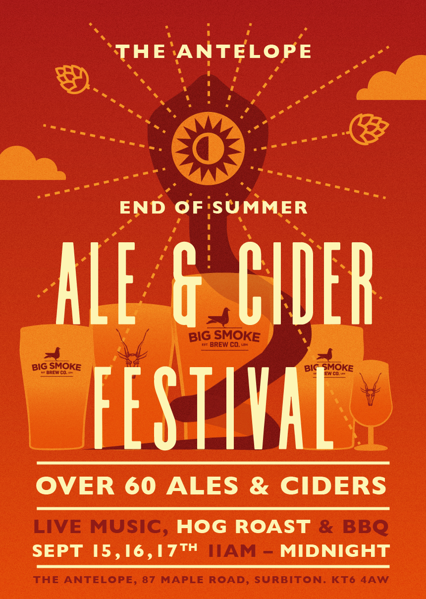 Our End of Summer Beer Festival is almost among us.   This time we'll have an extra 20 keg lines pouring some absolute beauties for your drinking pleasure, alongside the 60 ales and ciders that you expect. Live music form We Ghosts and The Dimmocks to keep things moving and a tasty BBQ and Hog Roast to keep your stomach lined. See you here!