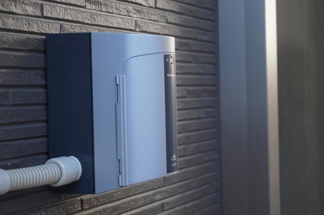 自宅に設置した充電器