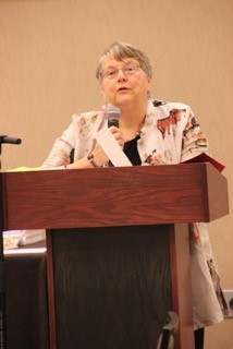 Sandra Lindow Reading Her Winning Poem