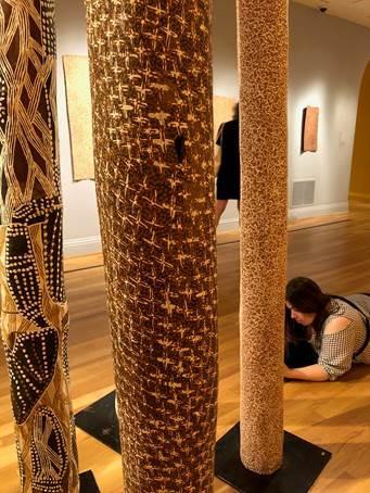 Australian Aboriginal funeral totems; Phillips Gallery Exhibition DC June, 2018