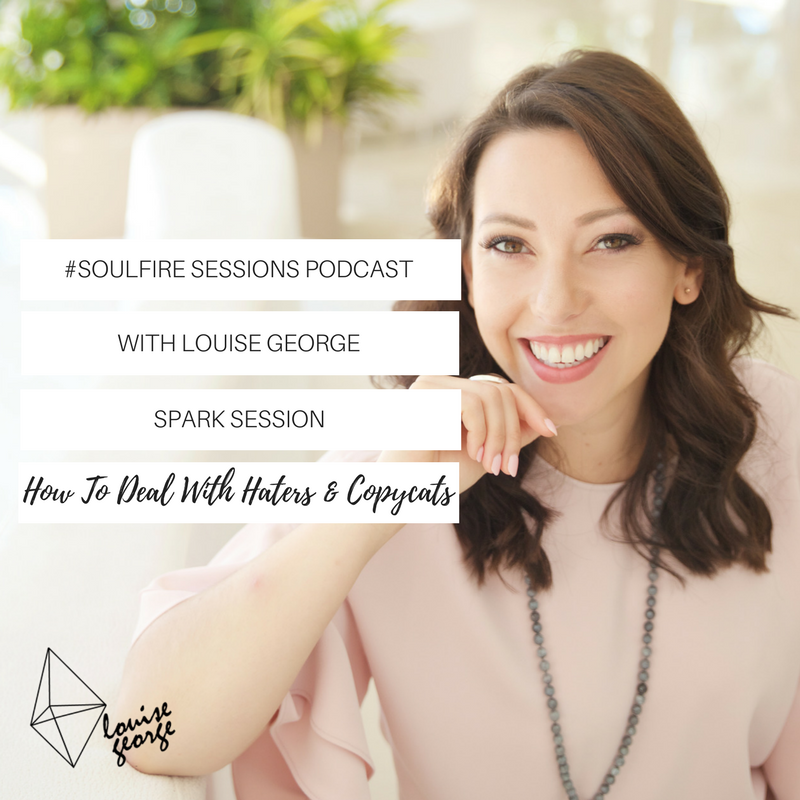 - In this Spark Session, I am sharing 3 tips to deal with haters and copycats!This is a topic that comes up often with clients of mine, in our community and generally in the online space...The fear of not being liked is one we have all experienced at some point and can stop you from producing your best work or from being visible.It also doesn't feel great to see others sharing your work / wisdom and not crediting you and this can also happen in the online world.But how do you deal with it?This episode will support you in feeling your best and not letting negativity or copying get to you. Scroll down to listen or watch.