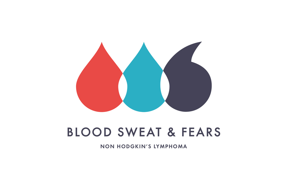 Blood Sweat & Fears  Promotional branding for a Non Hodgkin's Lymphoma awareness campaign for Ruder Finn UK, healthcare PR .