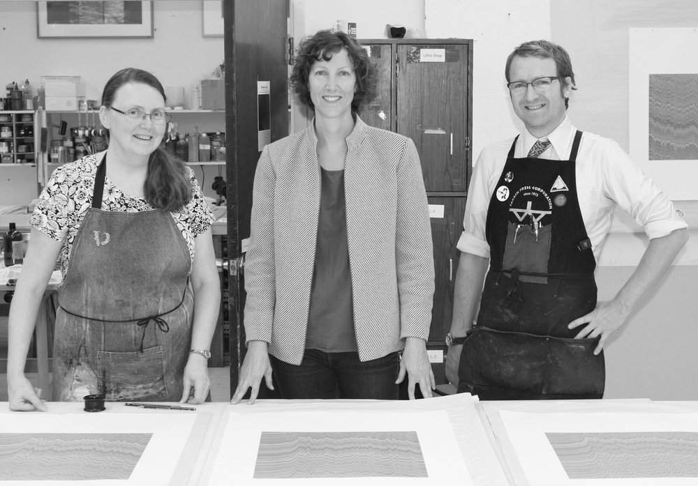 Visiting Artist/Lecturer At Normal Editions Workshop with master printers Veda Rives & Morgan Price Illinois State University, Normal, IL, 2015