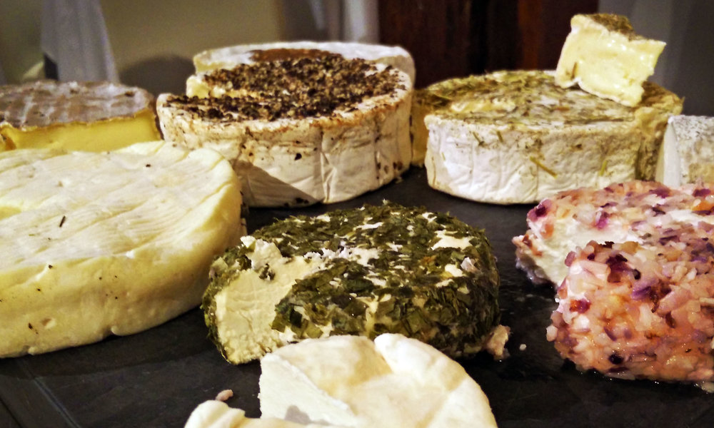 Cheese platter in France