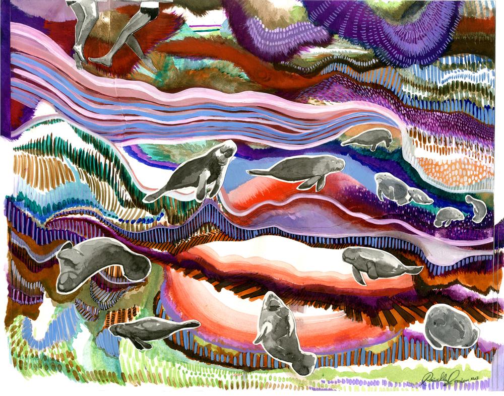 dancing manatees