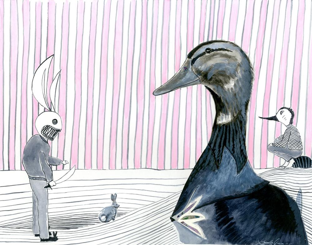 duck vs bunny