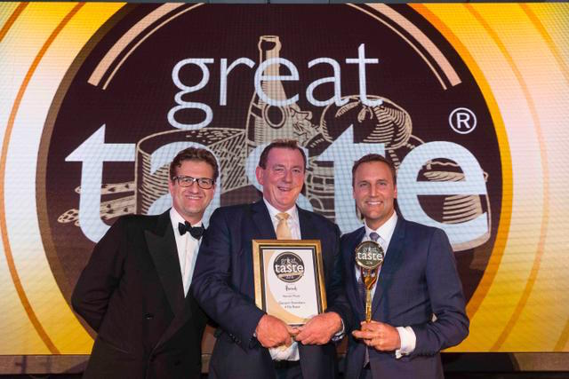 Great Taste 2016 Supreme Champion (L-R) John Farran, Guild of Fine Food, Peter Hannan of Hannan Meats and Michael Ward, Harrods.jpg