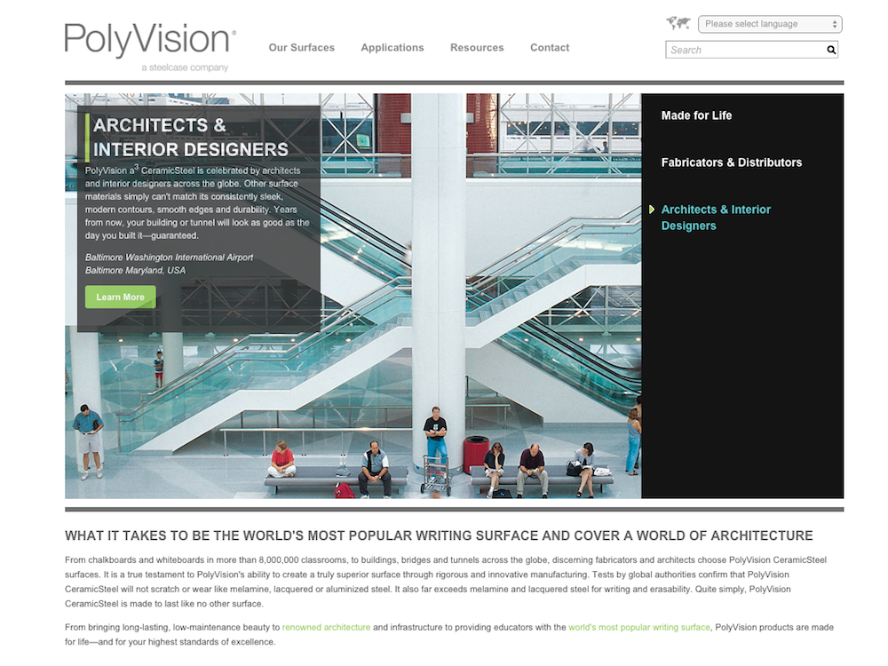 Steelcase Polyvision Website