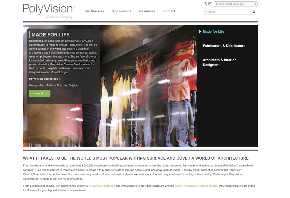 Steelcase Polyvision Website 2