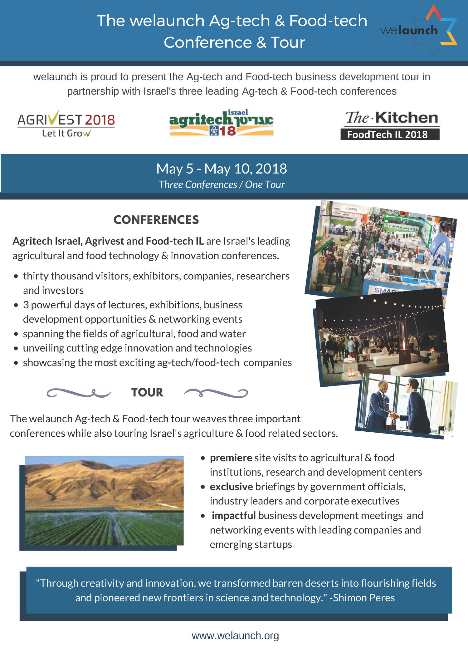 The welaunch Ag-tech & Food-tech Conference & Tour in Israel
