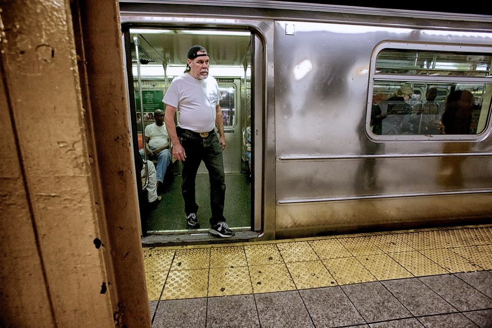 WATCH YOUR STEP AS YOU EXIT THE SUBWAY TRAIN.
