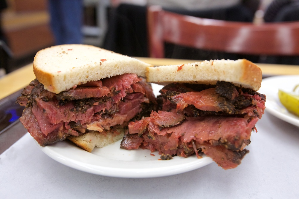 ANOTHER VIEW OF PASTRAMI ON RYE