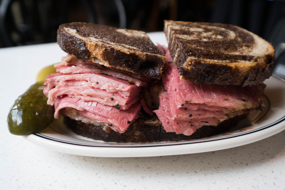 PASTRAMI ON MARBLE RYE