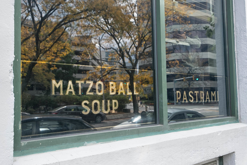 WHAT COULD BE BETTER THAN A BOWL OF MATZO BALL SOUP AND A PASTRAMI SANDWICH?