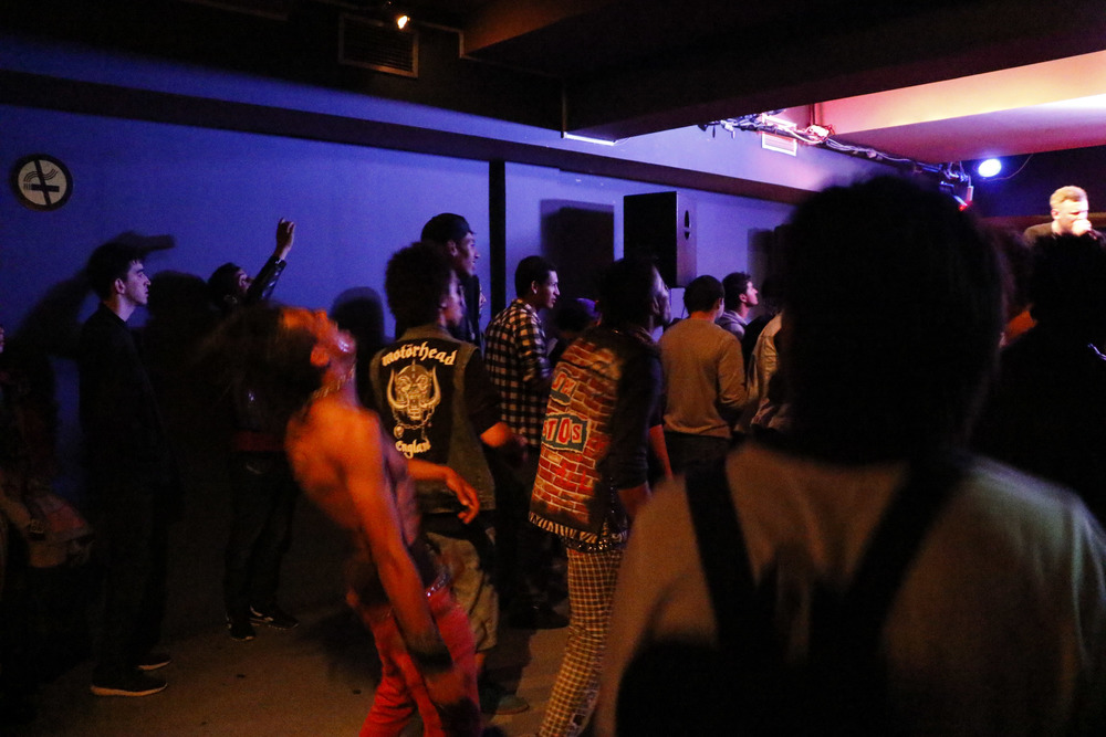 Fans gathered in the early evening to listen and dance to punk and hardcore at the Boultek, a recording studio and venue in Casablanca.