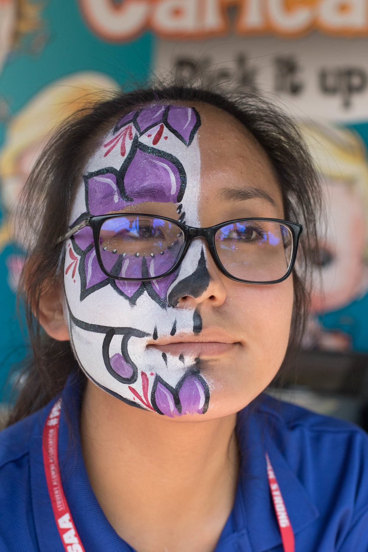 Carowinds Face Painter, 2016