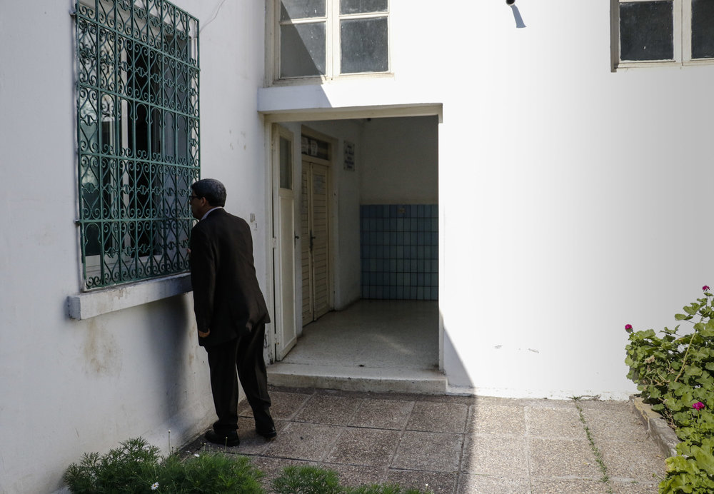 Dr. Omar Battas asks nurses to be let into the men's closed ward at the Ibn Rochd University Hospital. The Casablanca-based hospital is one of the only facilities to offer gender-specific care in Morocco.
