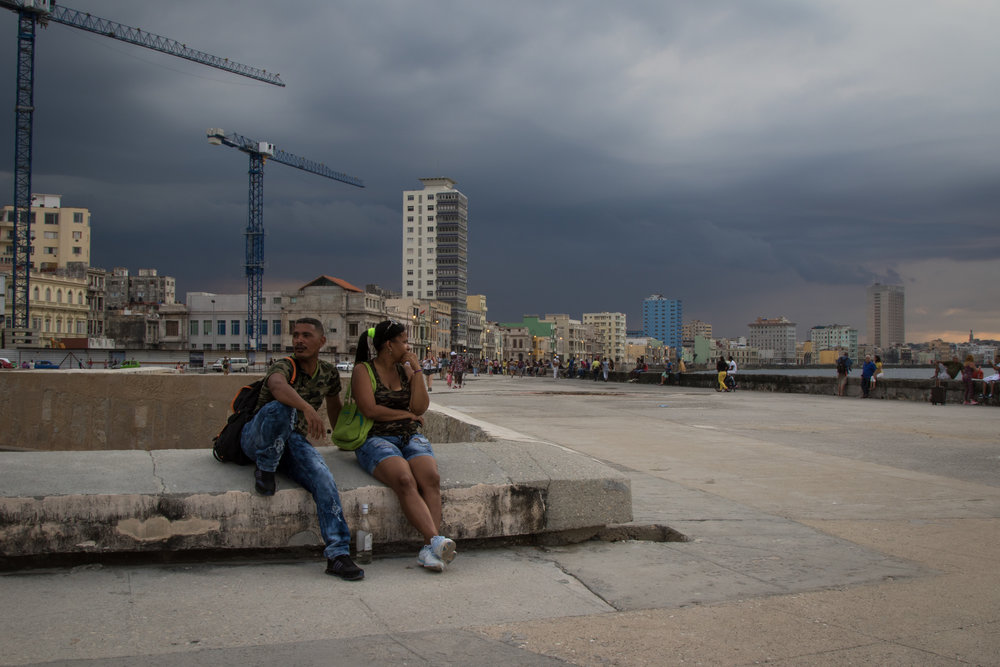 Couple on the Malecon, Havana, Cuba