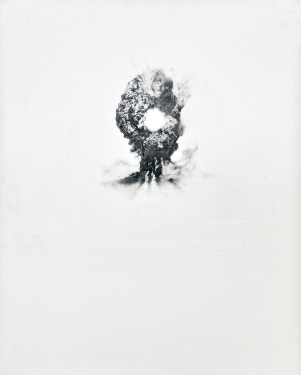 "Wholes, Graphite on mylar, 36""x28"", 2015"