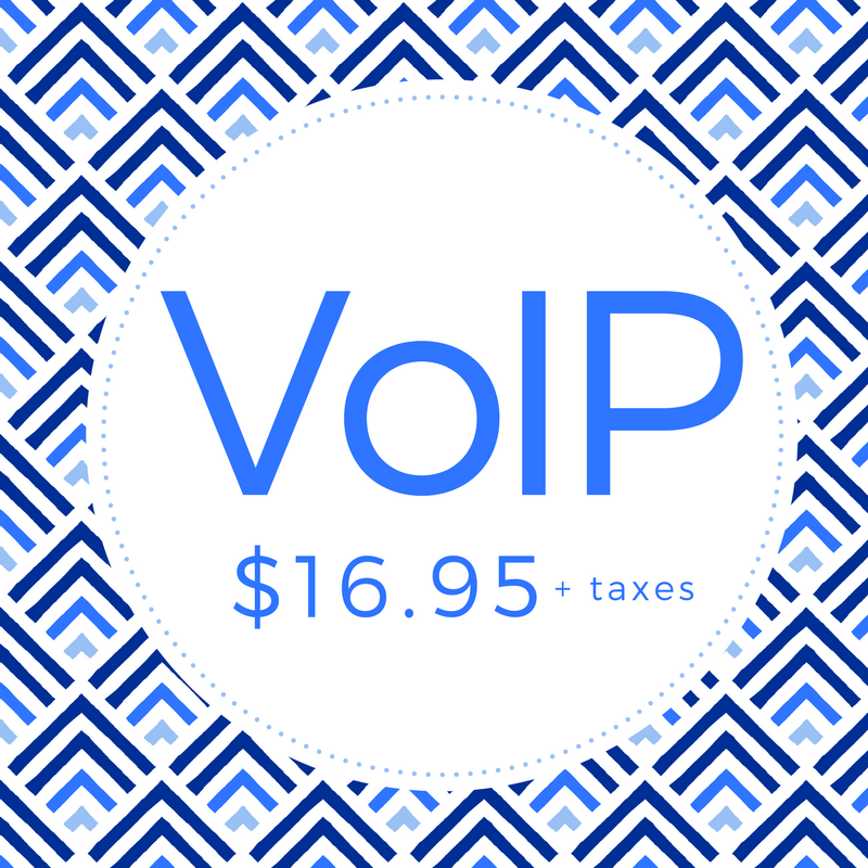 Bundle your services by adding VoIP. A convenient way to keep your home phone by connecting through the Internet.     •  Install: $40 and $16.95/month +tax  •  Unlimited Minutes  •  Free Long Distance  •  Transfer your Current Number  •  Obtain a New Number from Us