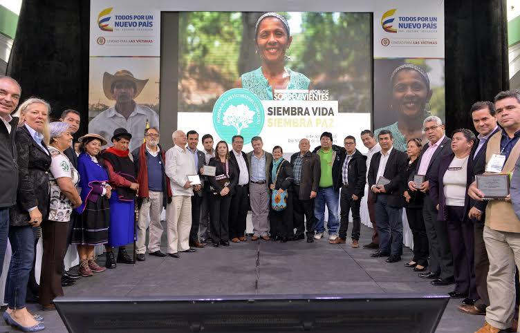 Foto: Efraín Herrera – Presidencia de la República de Colombia. El 9 de abril fue institucionalizado como el día de las víctimas del conflicto armado en Colombia.