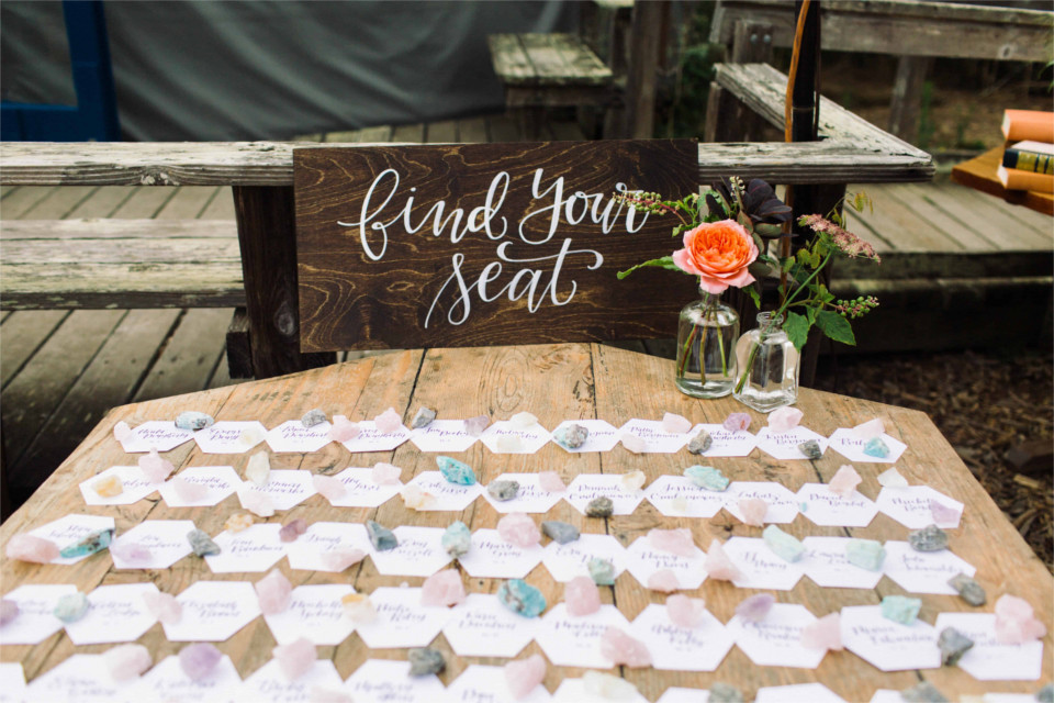 Rustic-Beach-Wedding-Escort-Card-Display-Wood-Sign-Hexagon-Crystals.jpg