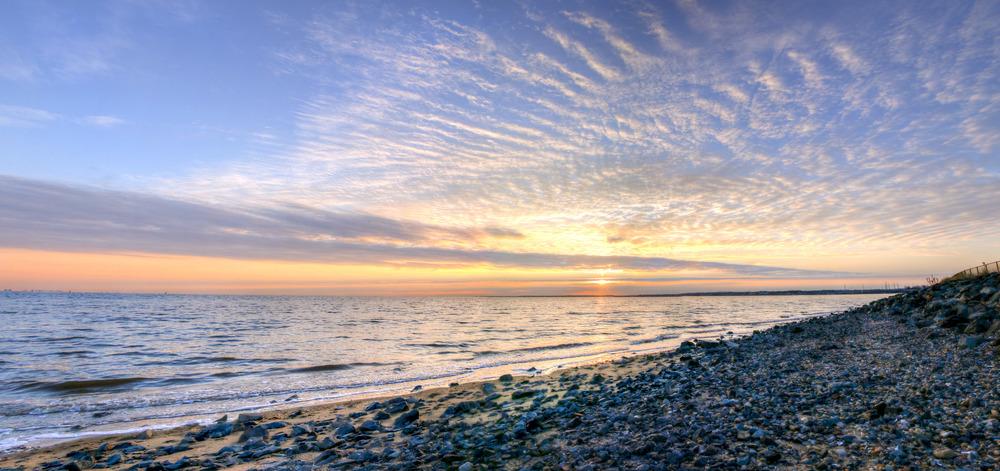 January Beach Sunrise