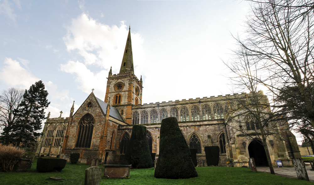 Outside of Holy Trinity Church where Shakespeare is buried.