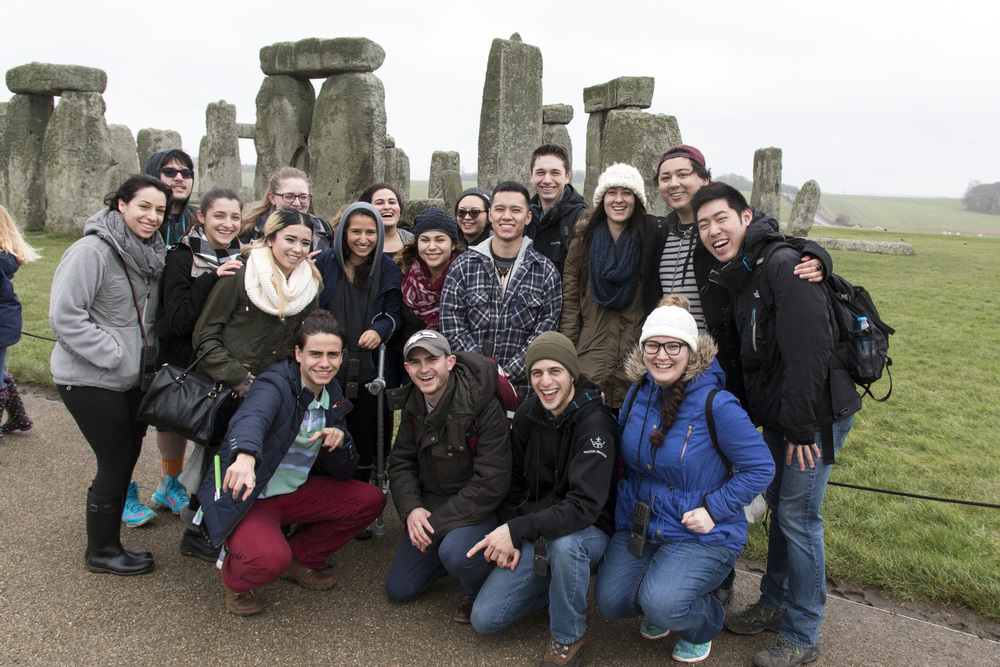 Some of us at Stonehenge