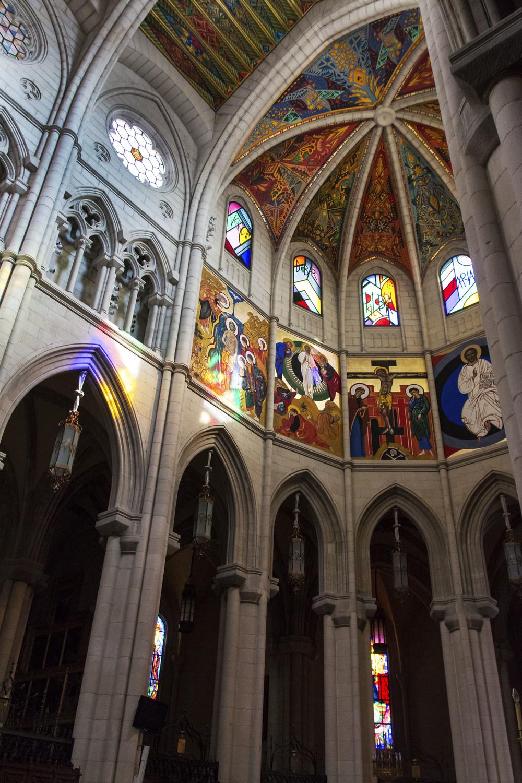 Inside Almudena Cathedral