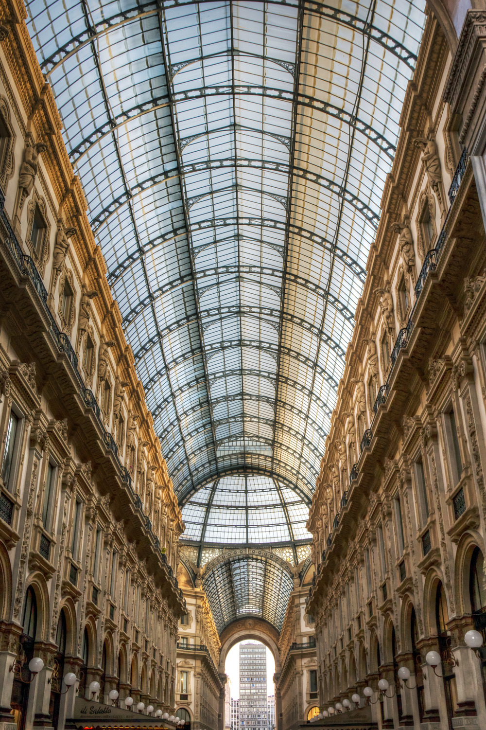This was the shopping center, believe it or not, right next to the Cathedral. Duomo shopping center.