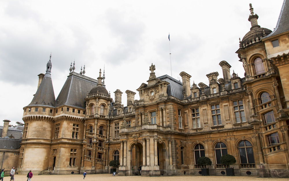 The front of the Waddesdon Manor