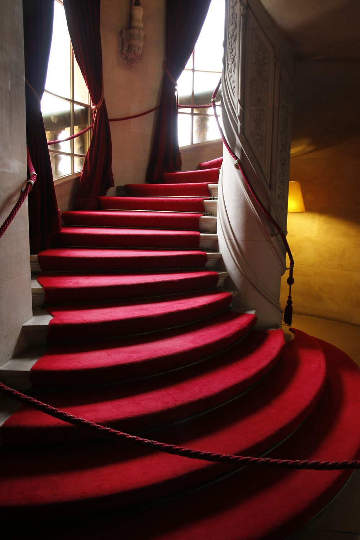 A fancy staircase inside