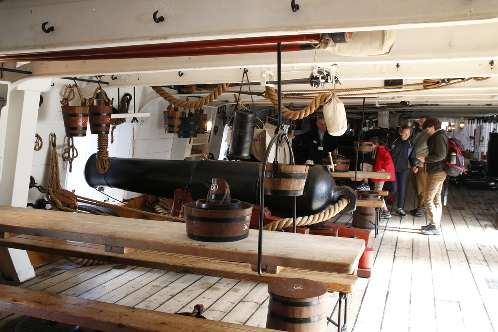 Models of the cannons they had on the ship